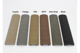 4pc Kit, ECS Rail Cover, 6 Color Options, BLK/FDE/OD/FOLIAGE/BROWN/COYOTE