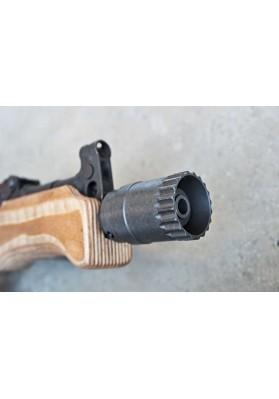 Muzzle Brake, Short Barrel, 14-1 LH, 3-Slot Vortex