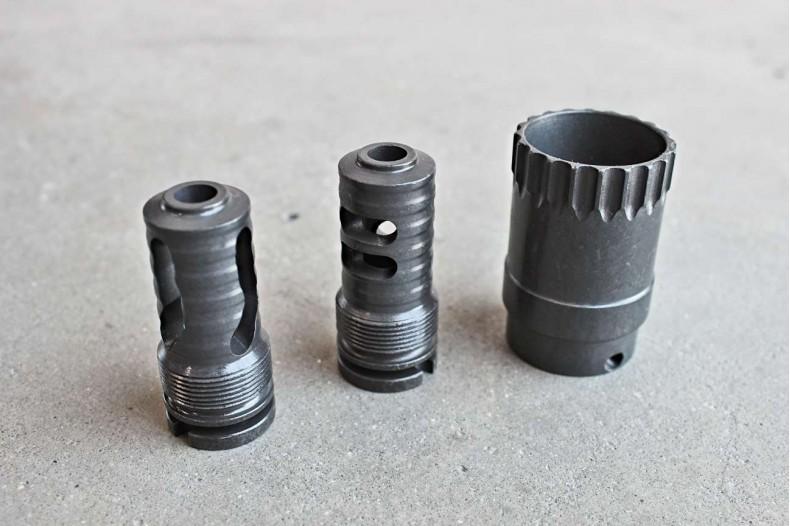 AK Muzzle Brake, Short Barrel, 14-1 LH, 4-Slot