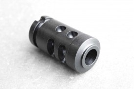 Muzzle Brake, AK-47 Rifle, 14-1 LH Thread (ported), Black Oxide