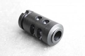 Muzzle Brake, AK-47 Rifle, 14-1 LH Thread (ported), Black Oxide