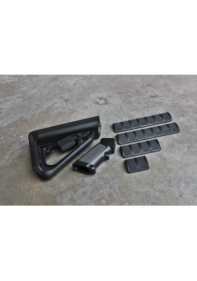 Enhanced Combat System Furniture Kit, Mil-Spec, Black