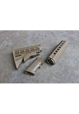 M4 Carbine QD Furniture Kit, Flat Dark Earth