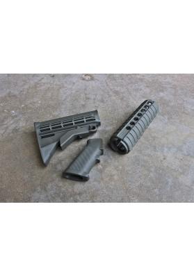 M4 Carbine QD Furniture Kit, OD Green