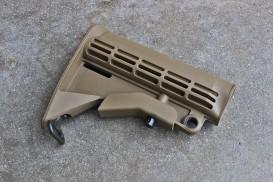 Buttstock, M4 Carbine w/ QD Mount & Sling Loop, Mil-Spec, Flat Dark Earth