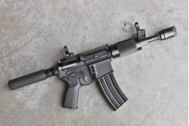 """""""Shadow"""" Complete Upper 7.5"""" Pistol, 300BLK"""