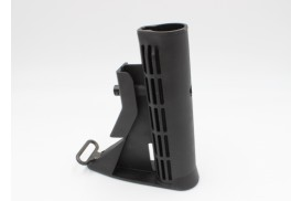 Buttstock, M4 Carbine w/ Sling Loop, Mil-Spec, Black