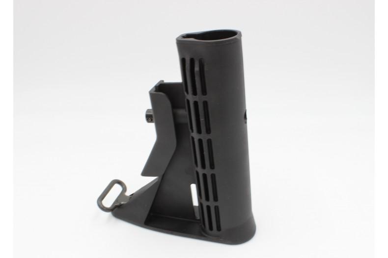 Buttstock, M4 Carbine w/ Sling Loop, Mil-Spec, Black