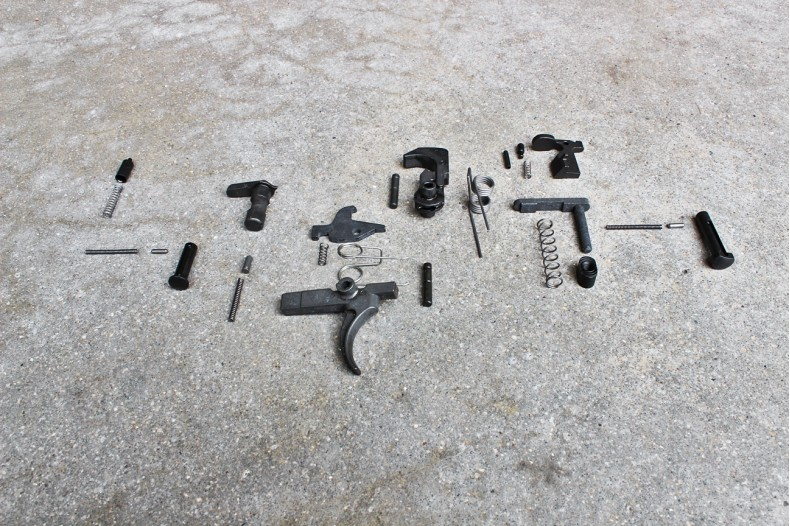Kit, Lower Receiver Parts, AR-15 Semi-Auto, w/o Pistol Grip and Trigger Guard