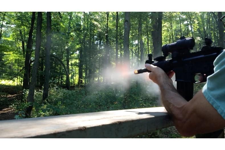 AR-15 4 Slot Muzzle Brake, Choice of Thread Pitch