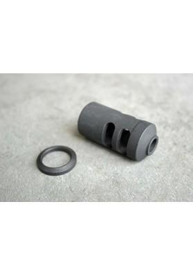 M468 6.8 Muzzle Brake & Crush Washer, 5/8x24mm
