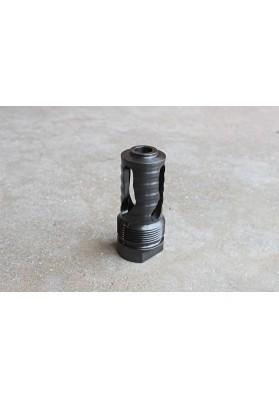 Muzzle Brake, Short Barrel, 3 Slot 5/8 x 24