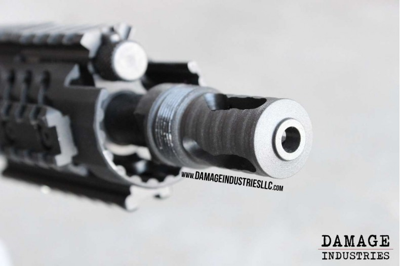 Muzzle Brake, Short Barrel, 3 Slot 1/2 x 28, Black Magnetite