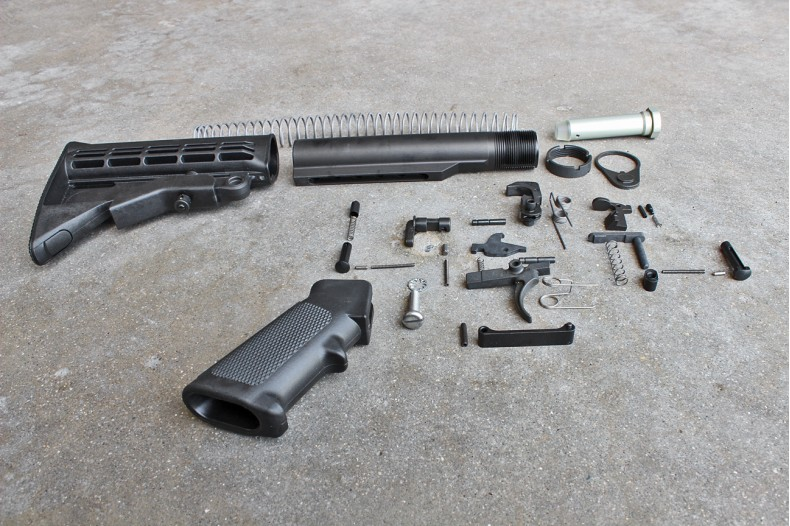 Kit, Mil-Spec, Complete Lower Receiver Parts Assembly w/ QD Buttstock