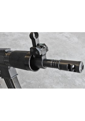 "Micro Gas Block Rail, Skeletonized, Black Magnetite, .750"" Barrel"
