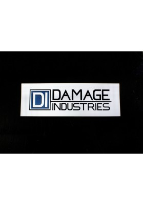 DI Damage Industries Logo Sticker, 2x6 Vinyl Indoor/Outdoor