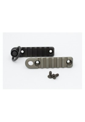 P90 & PS90 1913 Side Rail, 6 Slot w/QD Socket, Foliage Green or Black