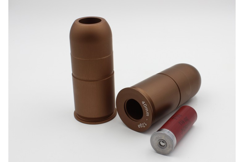 Insert, Chamber, 40mm to 12 Gauge ShotShell