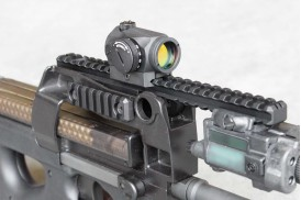 P90 & PS90 1913 Side Rail, 7 Slot Black