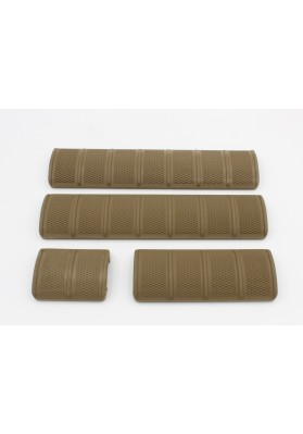 4pc Kit, ECS Rail Cover, 6 Color Options, BLK/FDE/OD/FOLIAGE/BROWN/COYOTE