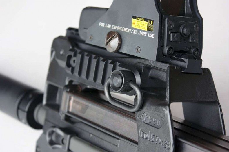 P90 & PS90 1913 Side Rail, 6 Slot w/QD Socket, Foliage Green or Black