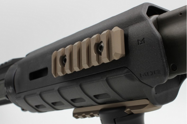 1913 7 Slot Add-On Accessory Rail, MLOK Compatible, FDE or Black