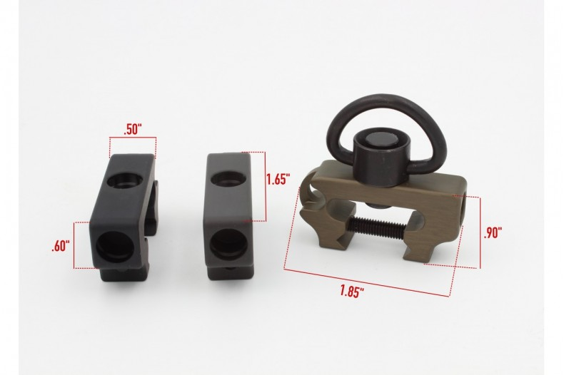 Multi Mount Sling Mount, Add-on Handstop, QD Black