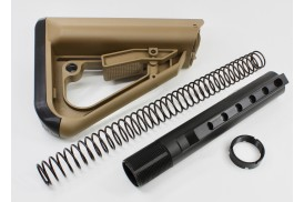 4pc Kit, ECS Enhanced Combat System Buttstock, Spring, Tube, Nut- Commercial Spec