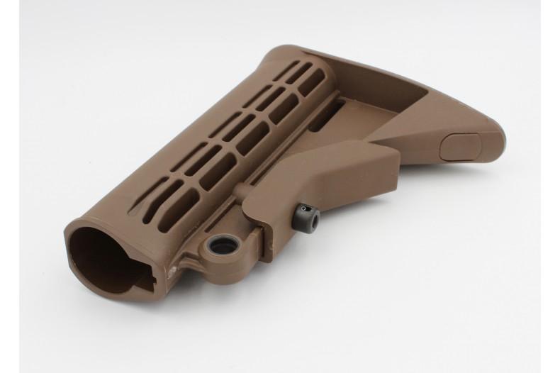 Buttstock, M4 Carbine w/QD Mount, Mil-Spec, SHTF Brown