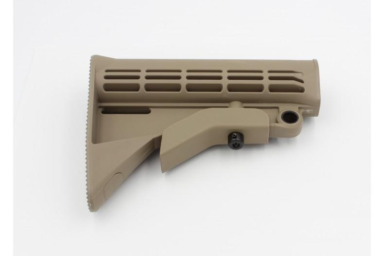 Buttstock, M4 Carbine w/QD Mount, Mil-Spec, Coyote Tan