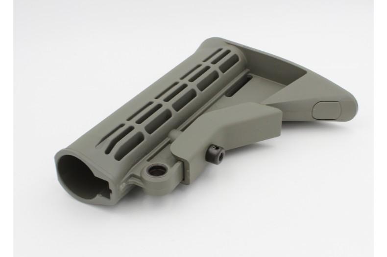 Buttstock, M4 Carbine w/QD Mount, Mil-Spec, Foliage Green