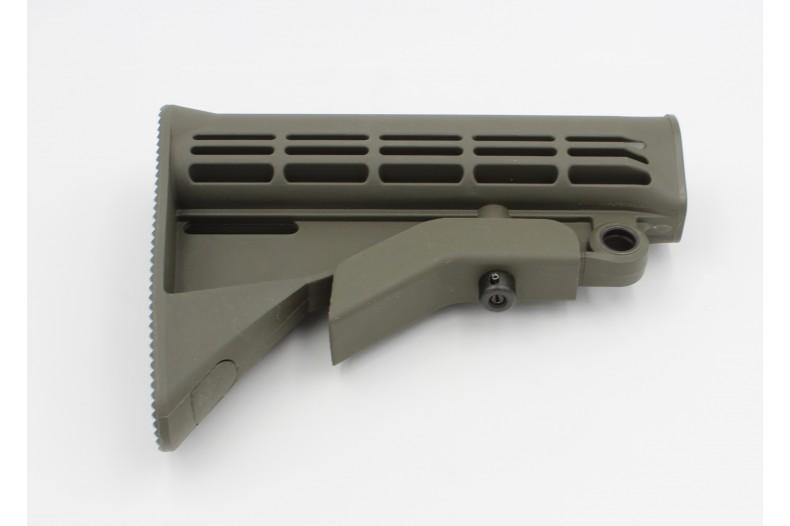Buttstock, M4 Carbine w/QD Mount, Mil-Spec, Olive Drab