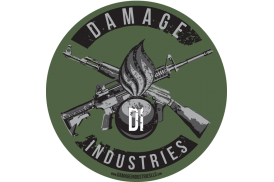 Damage Industries Ordnance & Crossed Guns Vinyl Indoor/Outdoor Sticker