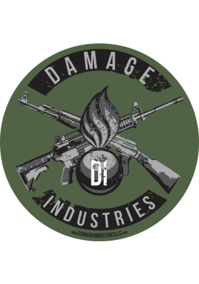 Ordnance & Crossed Guns Vinyl Indoor/Outdoor Sticker