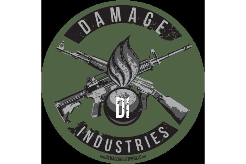 Damage Industries Ordnance & Crossed Guns Vinyl Indoor/Outdoor Sticker