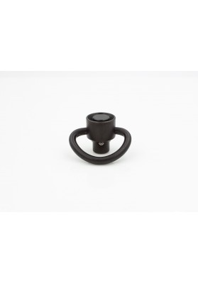 Swivel, Quick-Detach, D Loop, Heavy Duty, Stainless QD BLK