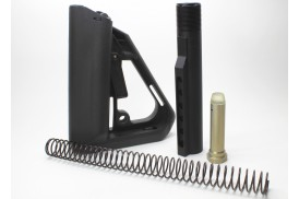 Enhanced Ti-7 Stock Kit w/Buffer, Buffer Tube & Enhanced Recoil Spring, Black, Mil-Spec